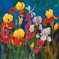 """Iris Explosion"" by Yelena Sidorova 24x24"