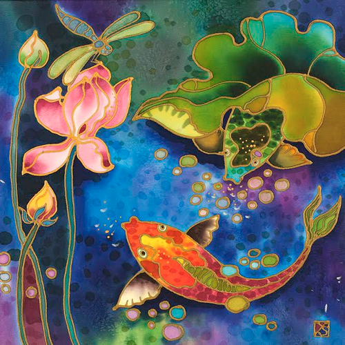 """Fish Pond"" by Yelena Sidorova 12x12"