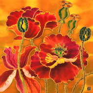 """Poppies"" by Yelena Sidorova 12x12"