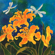 """Yellow Lillies"" by Yelena Sidorova 14x14"