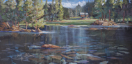 """Glass Lake"" Heather Coen 12x24"