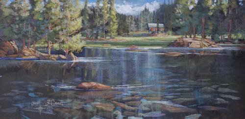 """Glass Lake"" Heather Coen 12x24"