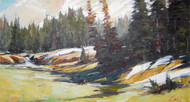 """Last Snow Fields in June"" George Coll 11x20"