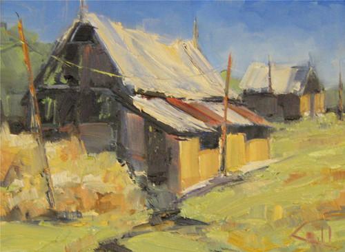 """Abandoned Barn"" George Coll 9x12"