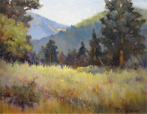 """Hallowell Park, Rocky Mountain National Park"" Margaret Jensen 8x10"