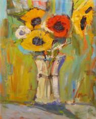 """Full Bloom Flowers"" Dawn Normali 16x20"