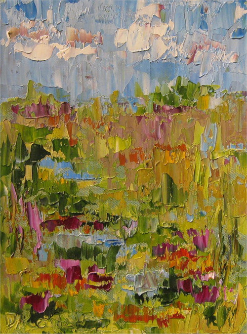 """Desert Terrace"" by Dawn Reinfeld 9x12"