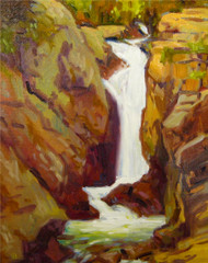 """Thundering Chasm, Rocky Mountain National Park"" Maggie Renner Hellmann 11x14"