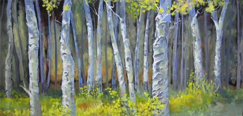 """""""Brilliant Woods"""" Heather Coen 12x24"""