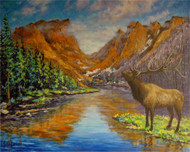 """Elk at Hallett Peak"" Julia Dordoni 16x20"