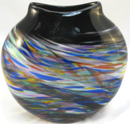 """Medallion Vase in Rainbow"" by Mark Rosenbaum, Rosetree Glass"
