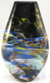 """Teardrop Vase in Rainbow"" by Mark Rosenbaum, Rosetree Glass"
