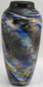 """Dreamscape Vase in Rainbow"" by Mark Rosenbaum, Rosetree Glass"