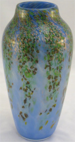 """Round Vase in Spring Wisteria"" by Mark Rosenbaum, Rosetree Glass"