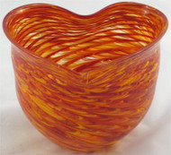 """Heart Bowl in Hot Mix"" by Mark Rosenbaum, Rosetree Glass"