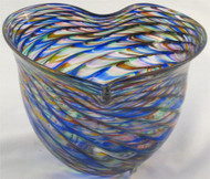 """Heart Bowl in Rainbow"" by Mark Rosenbaum, Rosetree Glass"