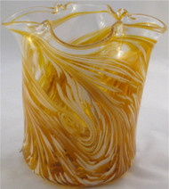 """Ice Bucket in Gold"" by Mark Rosenbaum, Rosetree Glass"