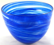 """Deep Bowl in Blue"" by Mark Rosenbaum, Rosetree Glass"