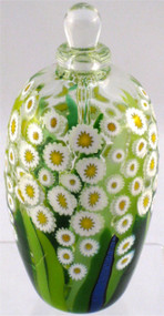 """Classic Perfume Bottle in Clear Daisy"" by Michael Maddy & Rina Fehrensen, Mad Art Studio"