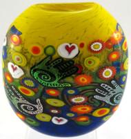 """""""Disk Vase in Creative Hand"""" by Michael Maddy & Rina Fehrensen, Mad Art Studio"""