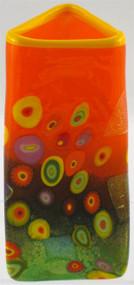 """""""Small Triangle Vase in Citrus"""" by Michael Maddy & Rina Fehrensen, Mad Art Studio"""