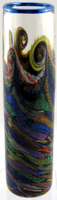 """Skinny Cylinder Vase in Sunset Surf"" by Michael Maddy & Rina Fehrensen, Mad Art Studio"