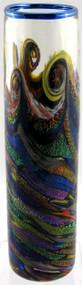 """Skinny Cylinder Vase in Sunset Surf"" by Michael Maddy & Rina Fehrensen, Mad Art Studio"