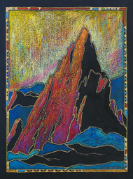 "Original painting by Lou Renner, ""Bright Star, Third Flatiron"", Mixed media, 16x20"