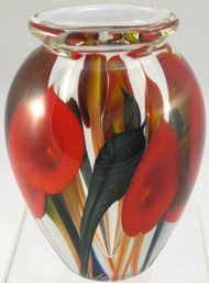 """""""Large Calla Lily Vase in Red"""" by Scott Bayless"""