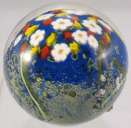 """""""Floral Paperweight with Red and Yellow Roses and Daisies"""" by Shawn Messenger"""