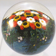 """Floral Paperweight with Red Roses and Daisies"" by Shawn Messenger"