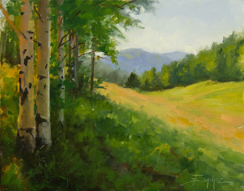 """Aspens in the Shade"" Terri Sanchez 11x14"