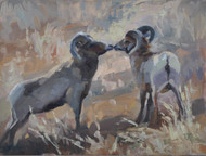 """Kissing Rams"" Terri Sanchez 9x12"