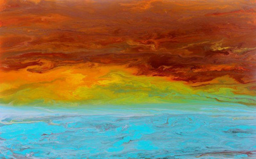 """Sunrise Reflections"" by Kimberly Conrad, 30""x48""x1.5"""