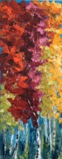 """Abundance"" by Dawn Reinfeld 40x16"