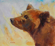 """Bear in the Breeze"" Coni Grant 12x14 Oil"