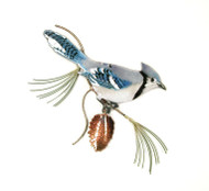 Blue Jay on Pine by Bovano of Cheshire Metal