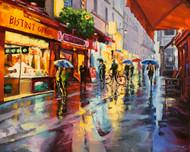 """Parisian Rain"" Stanislav Sidorov, Oil, 24x30"
