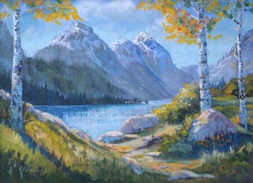 """Mills Lake"" Heather Coen 9x12"