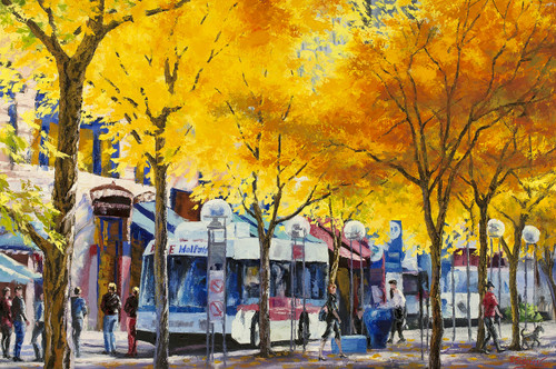 """Radiant Fall, 16th Street Denver"" Stanislav Sidorov 24x30, Oil"