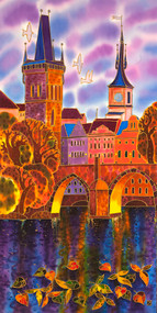 """Charles Bridge Lilac Evening"" Yelena Sidorova 18x36"