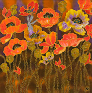 """Field of Poppies"" Yelena Sidorova 20x20"