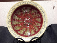 "Serving Bowl #8 in Red Glaze by Ray Pottery,15""x 5"" deep Glazes are applied by a combination of dipping and spraying."