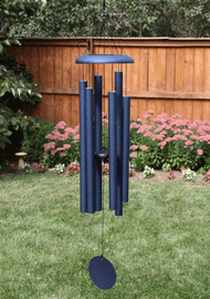 "The Corinthian Bells® 44"" T406 creates musical tones that make the wind sing! This Chime is shown in Midnight Blue. Each pipe is individually hand tuned and the chimes are made with durable materials and weather-resistant finishes suitable for outdoor use."