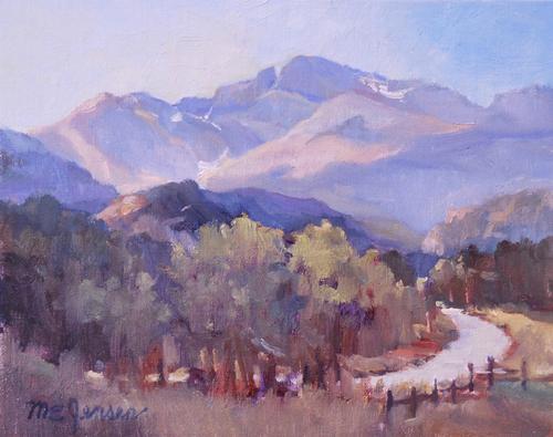 """""""Longs Peak Distant"""" by Margaret Jensen, Oil 8x10"""