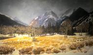 """Early Autumn Snow, Rocky Mountain National Park"" Lyse Dzija 20x34"