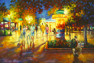 """Original oil painting on canvas by Stanislav Sidorov, """"Trumpet Player (Boulder, CO)"""" 24x30"""