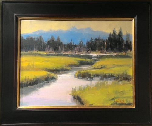 """Beaver Pond A"", George Coll, 14x18"