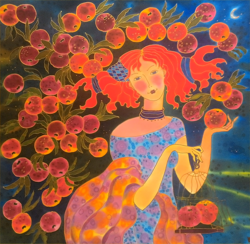 """Apple Time Harvest Time"" Yelena Sidorova 30x30"