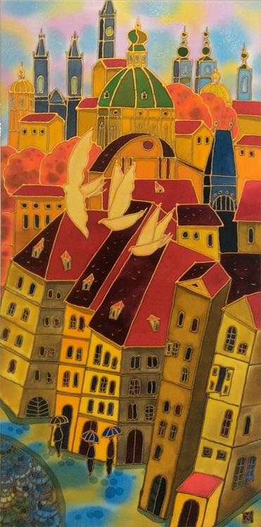 """Old Town Prague"" Yelena Sidorova 20x40"